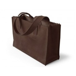 MYOMY My Paper Bag Handbag met rits Dark Chocolate