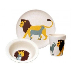Zuperzozial Hungry Lion kinderservies